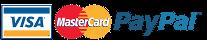 Payer avec une carte Visa, Mastercard, American Express ou Paypal
